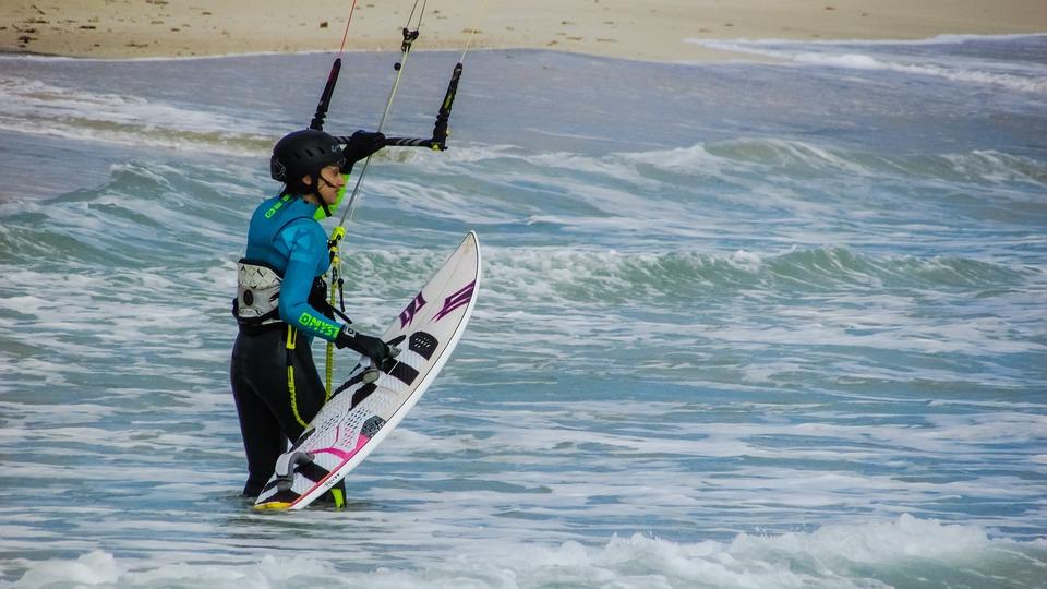 Kite Surfer, Kite Surfing, Active, Sport, Woman