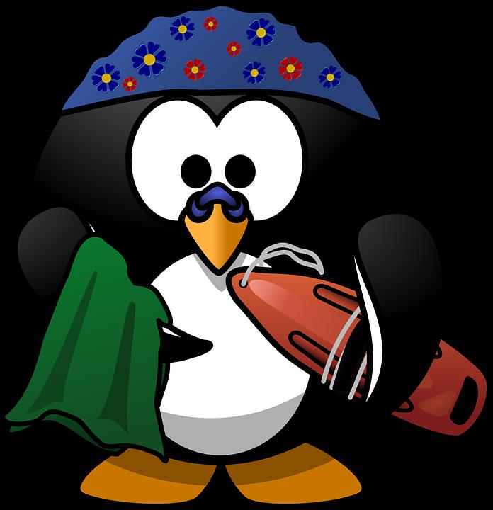 Linux, Tux, Activity, Beach, Buoy, Clip, Dive, Diving