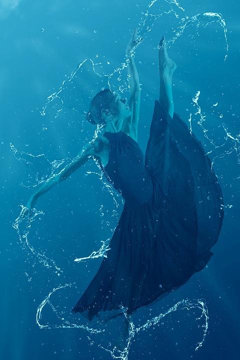 Underwater, Woman, Dancer, Activity