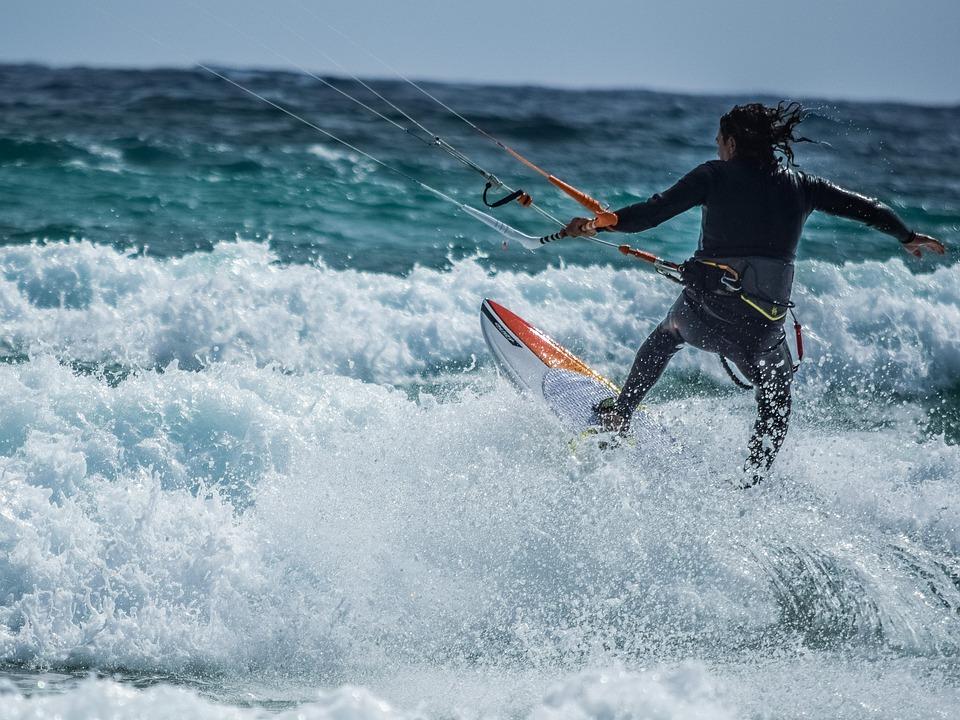 Kitesurfing, Skill, Action, Adventure, Active, Activity