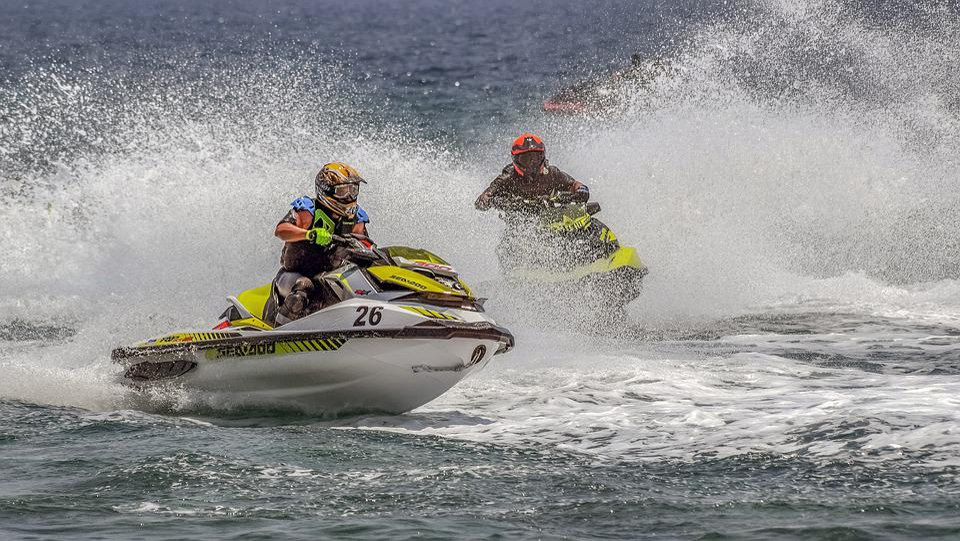 Jet Ski, Sport, Speed, Water, Spray, Sea, Activity