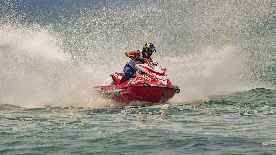 Jet Ski, Sport, Speed, Water, Spray, Sea, Activity
