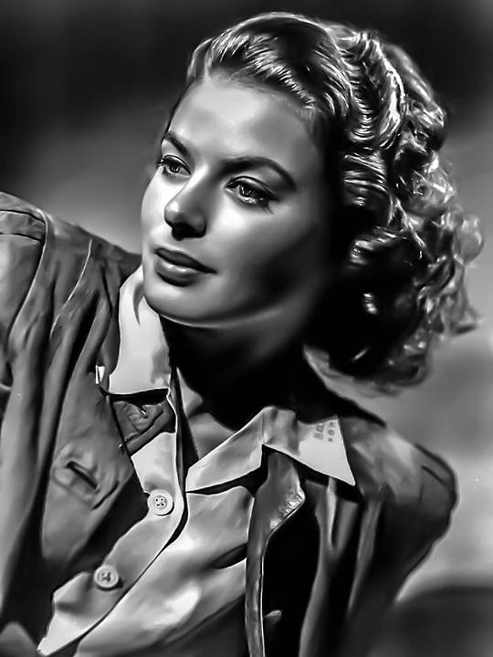 Ingred Bergman-female, Portrait, Hollywood, Actress