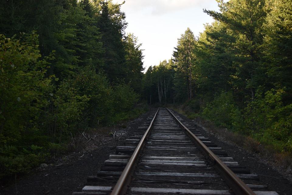 Railroad, Train Tracks, Tracks, Woods, Adirondacks