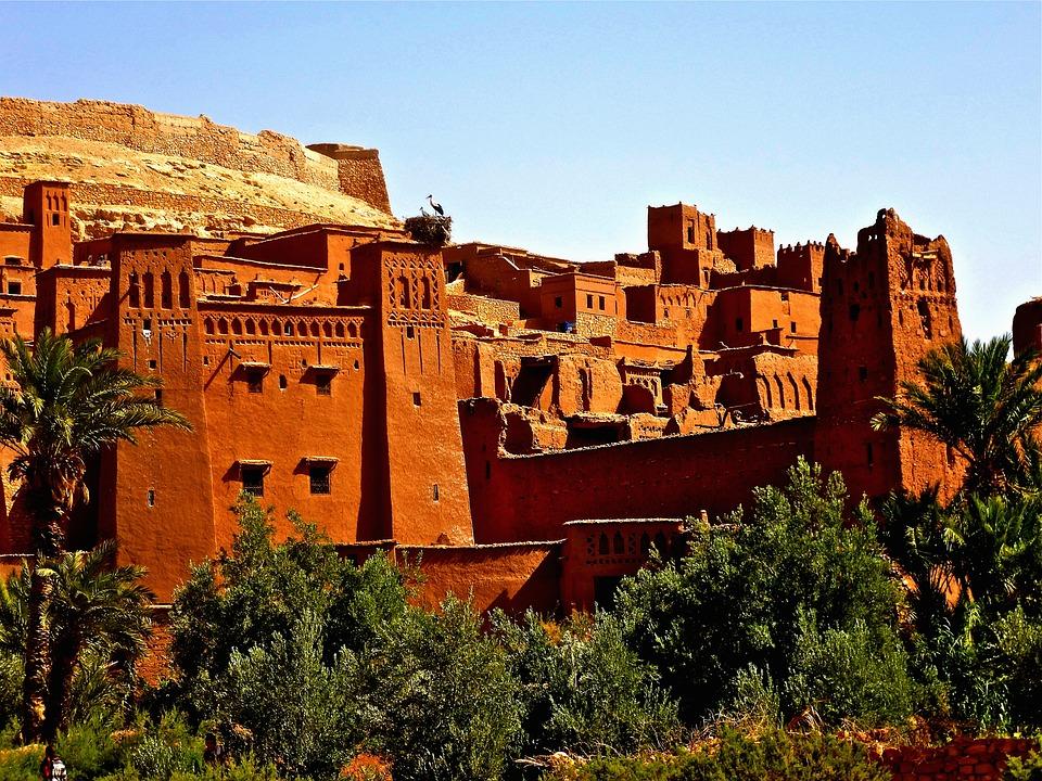 Fortress, Morocco, Adobe, Castle