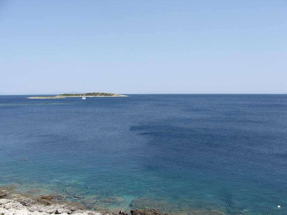 Sea, Panorama, Island, Summer, Blue, Sky, Adriatic, Vis