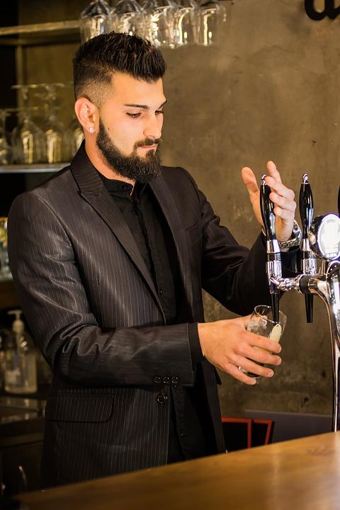 Bartender, Cocktails, Adult, Clothing, Beer, Elegant