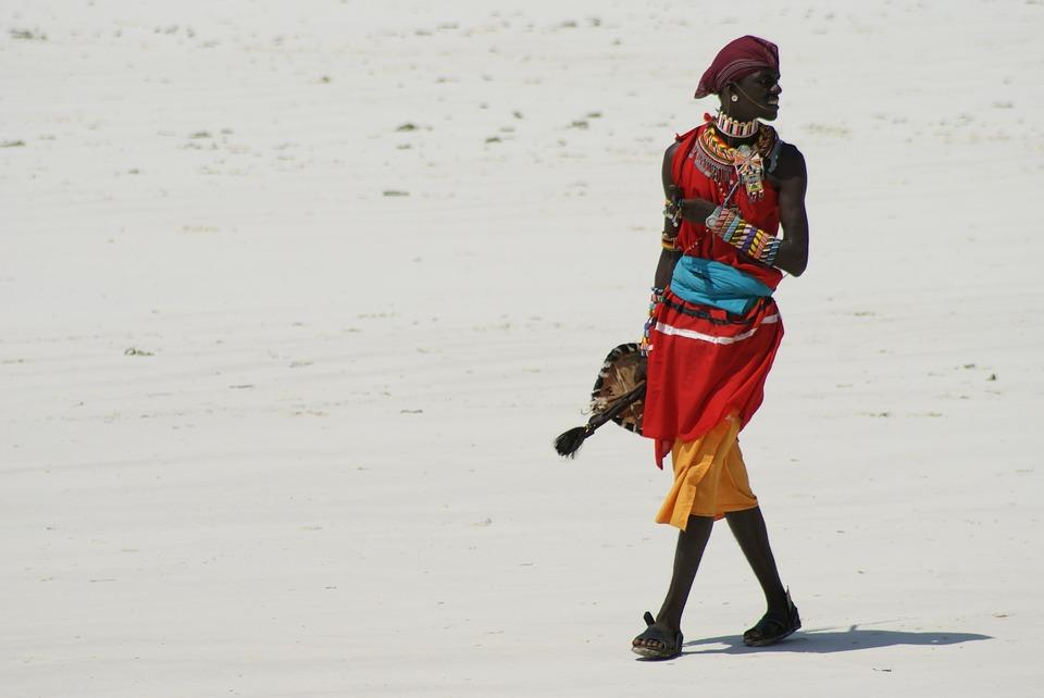 Human, Adult, Massai, Kenya