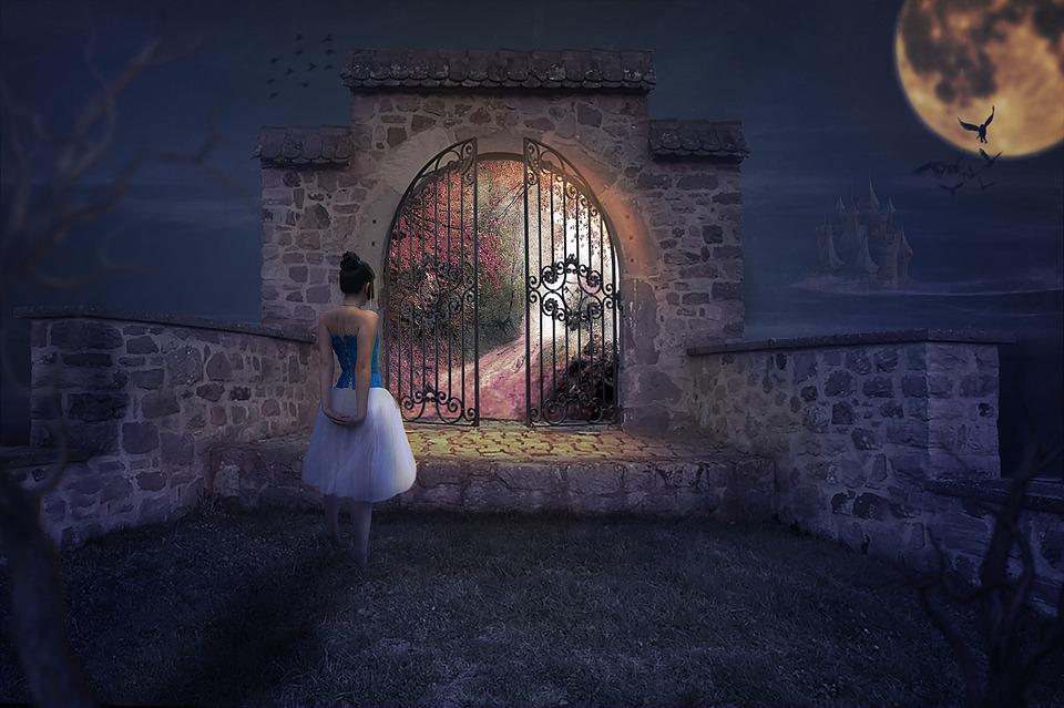 Architecture Dream Woman, Human, Adult, Movement