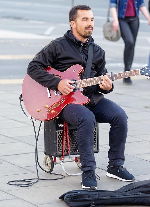 Boy, Man, Adult, Young, Music, Interpretation, Guitar
