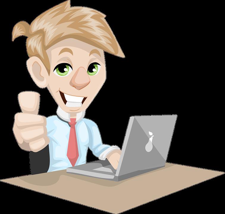 Man, Adult, Businessman, Laptop, Working, Desk
