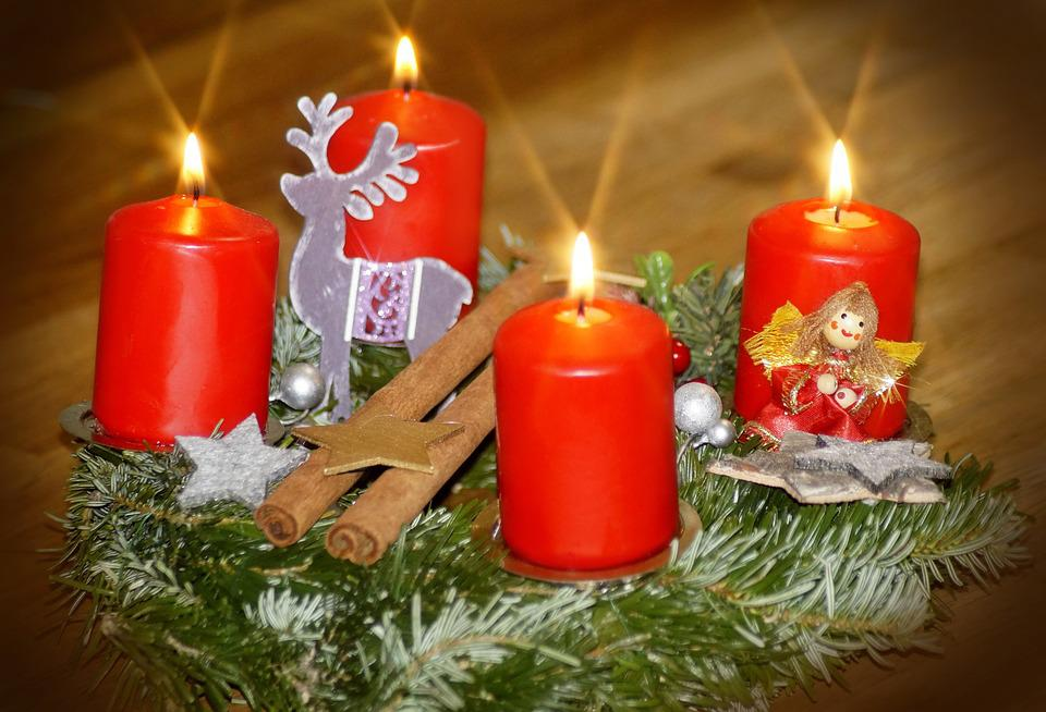 Fourth Advent, Advent Wreath, Advent, Candles