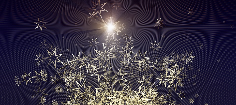 Christmas, Star, Advent, Background, Golden, Bright