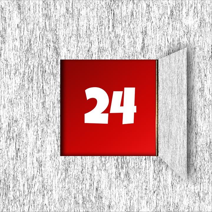 Advent Calendar, Advent, Background, Door, Christmas