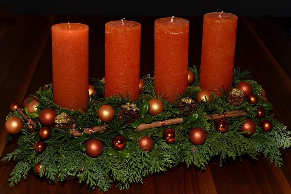 Advent Wreath, Candles, Advent, Christmas