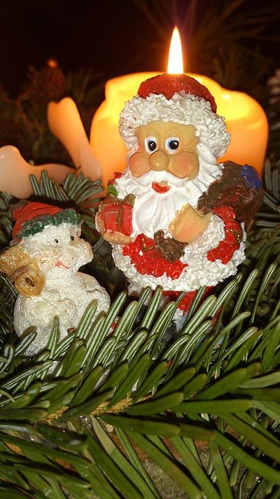 Nicholas, Christmas, Candle, Advent, Santa Claus