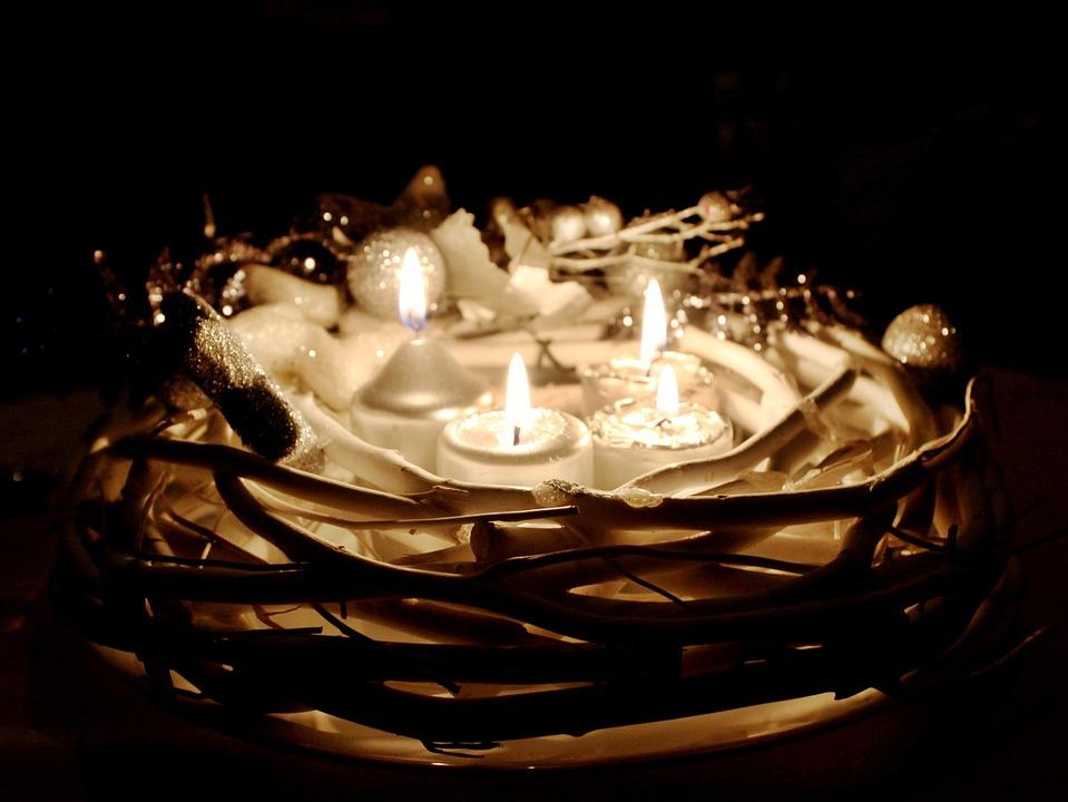 Christmas, Advent, Wreath, Fire, Candles, Advent Wreath