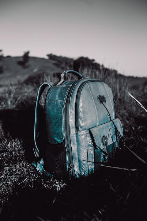 Satchel, Backpack, Meadow, Hiking, Travel, Adventure
