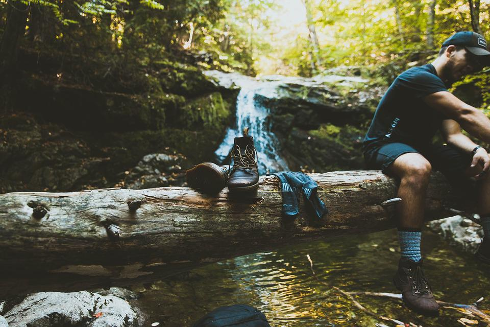 Adventure, Daylight, Environment, Footwear, Forest, Log