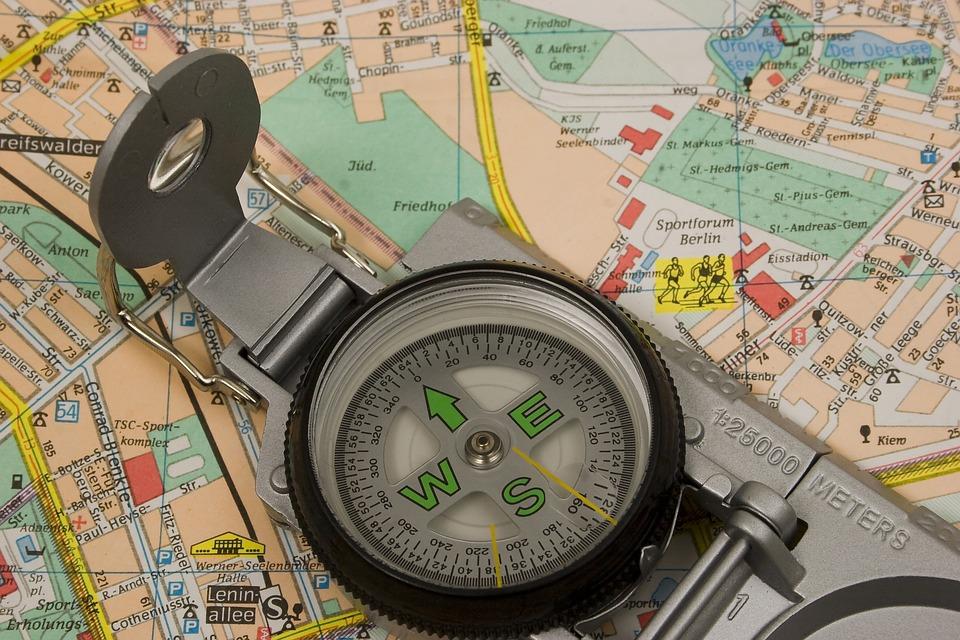 Map, Compass, Travel, Tourism, Navigation, Adventure