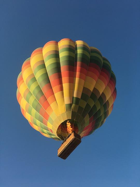 Hot, Air, Ballon, Sky, Blue, Balloon, Adventure, Travel