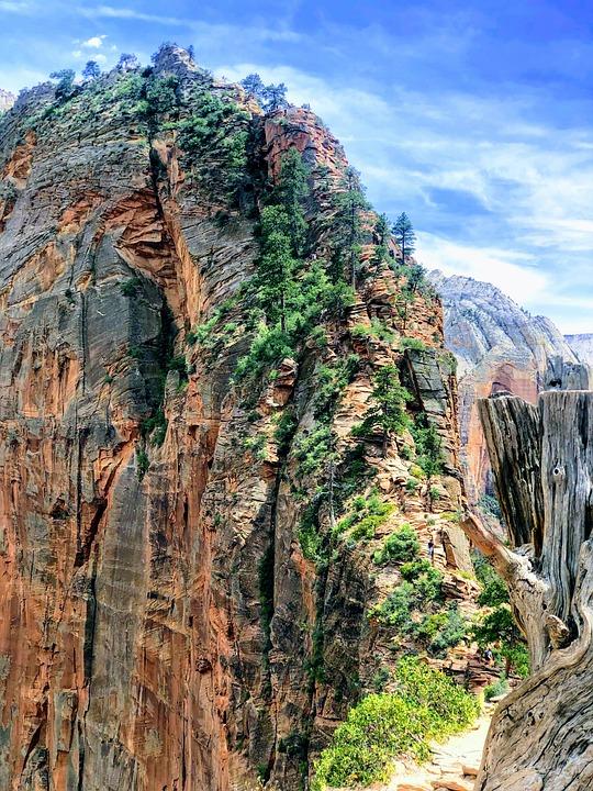 Angels Landing, Utah, Zion, Adventure, Landscape