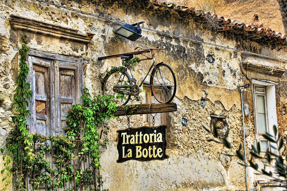 Calabria, Italy, Advertisement, Bike, Capo Vaticano