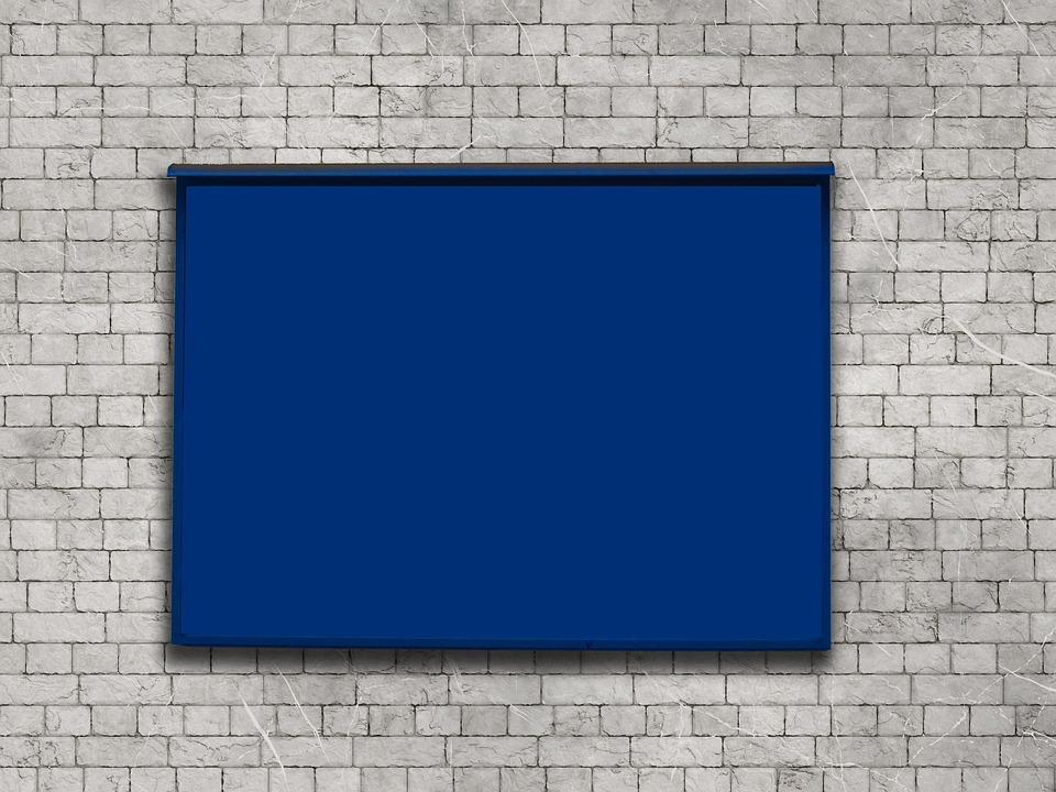 Mockup, Advertising Board, Advertising, Board, Wall
