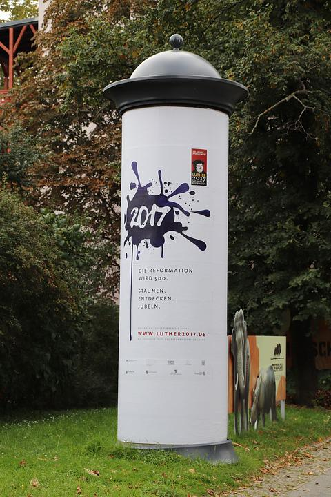 Advertising Pillar, Berlin, Information, Poster, News