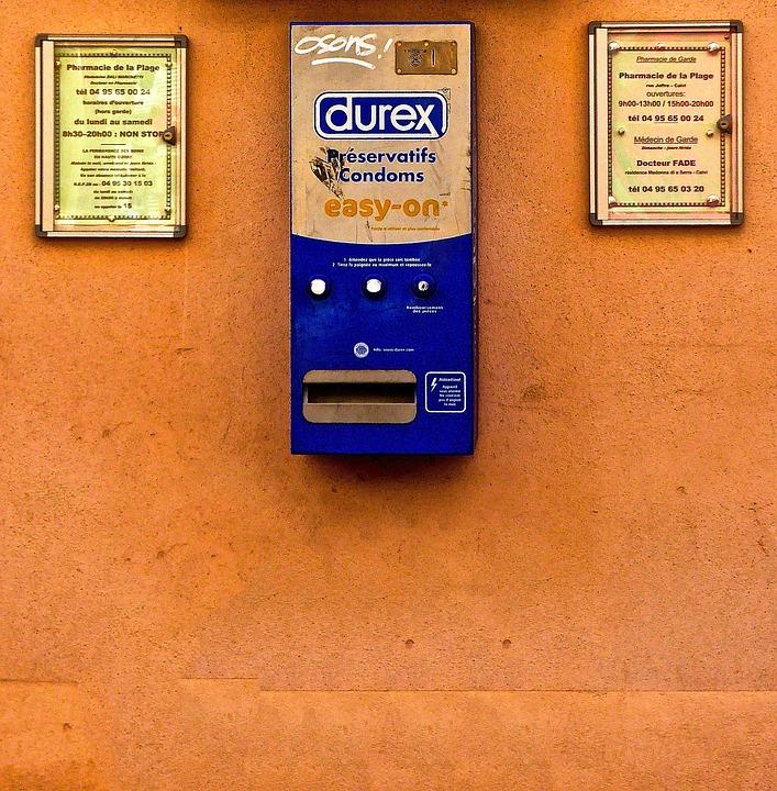 Dispenser, Condoms, Advertising, Signs, Public