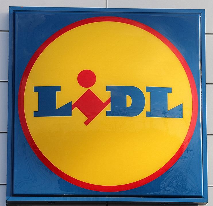 Advertising, Shield, Lidl, Advertising Sign