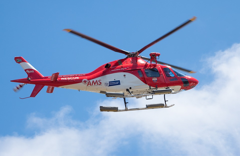 Rescue Helicopter, Aerial, Air, Aircraft, Airplane