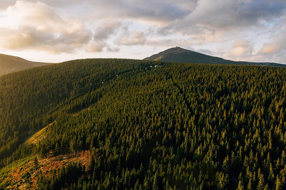 Aerial, Drone, Giant Mountains, Mountains, Karkonosze