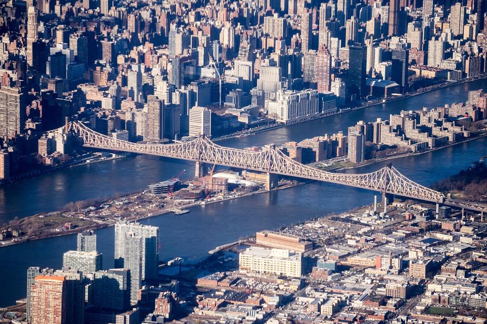 New York City, Aerial Photography, Bridge, River