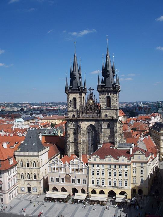 Prague, Church, Czech Republic, Aerial View