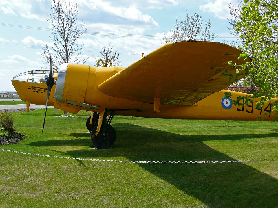 Yellow, Airplane, Aircraft, Transportation, Aeroplane