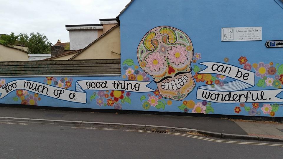 Street Art, Glastonbury, Affirmation, Flower Power