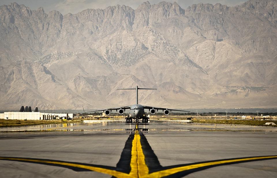 Afghanistan, Air Base, Aircraft, Plane, Runway, Takeoff