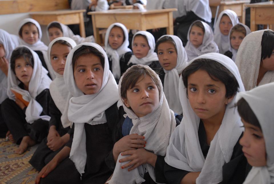 Afghanistan, School, Classroom, Girls, Children