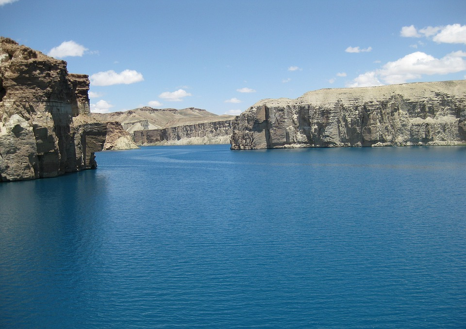 Afghanistan, Mountains, Sky, Clouds, Lake, Water