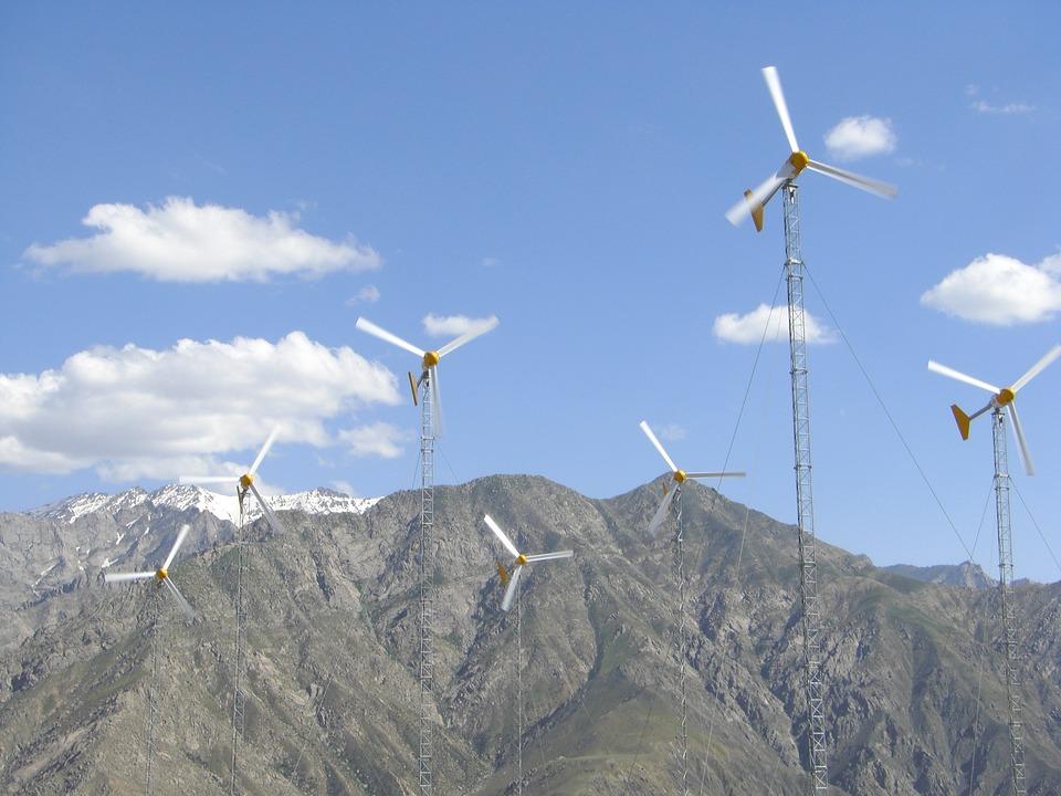 Afghanistan, Landscape, Mountains, Wind Farm