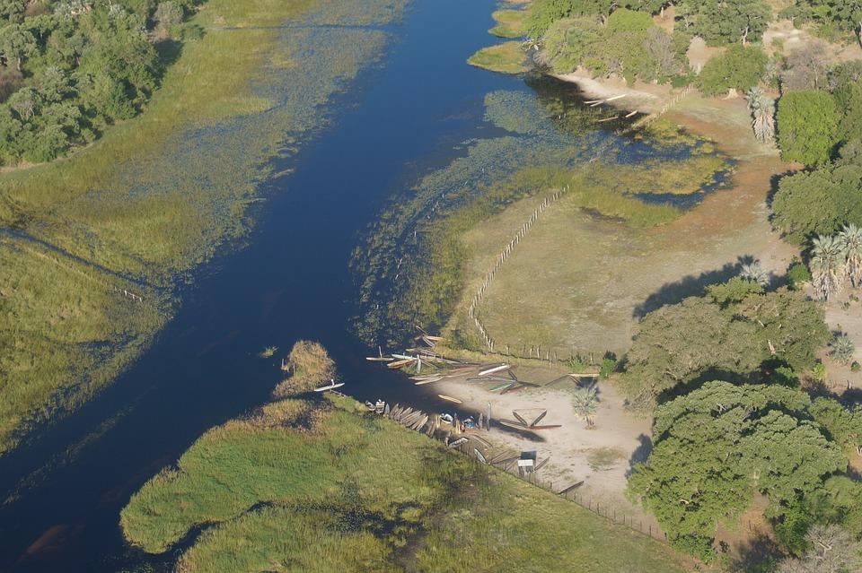 Scenic Flight, Aerial View, Okavango Delta, Africa