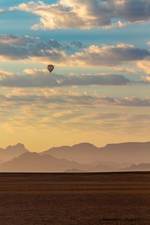 Balloon, Hot Air Balloon, Namibia, Africa, Desert