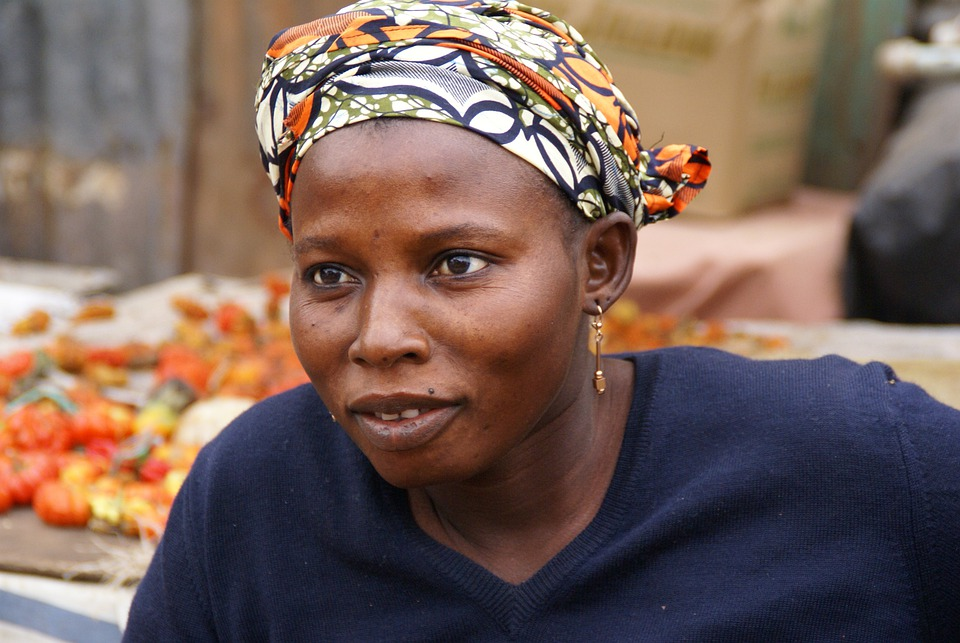 Gambia, Market, Woman, Creole, Portrait, Africa