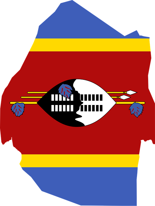 Swaziland, Flag, Map, Geography, Outline, Africa