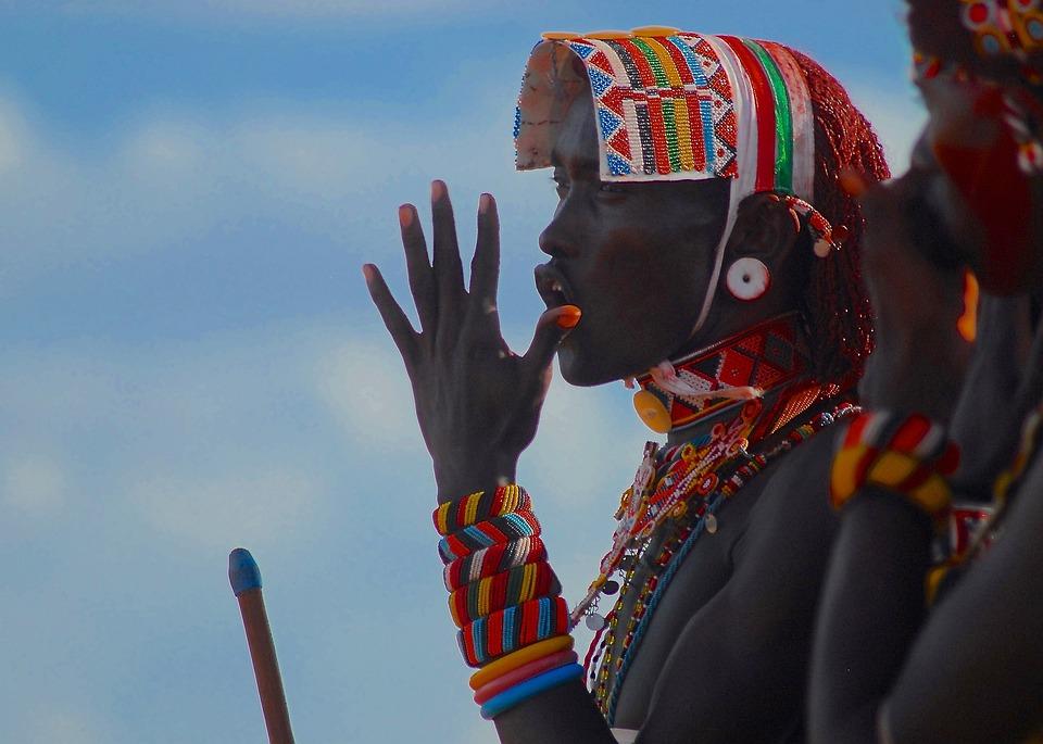 Samburu, Moran, Ceremony, Tribal, Beads, Africa