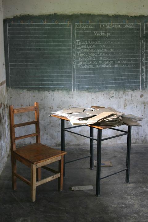 Africa, In The Classroom, School, Blackboard