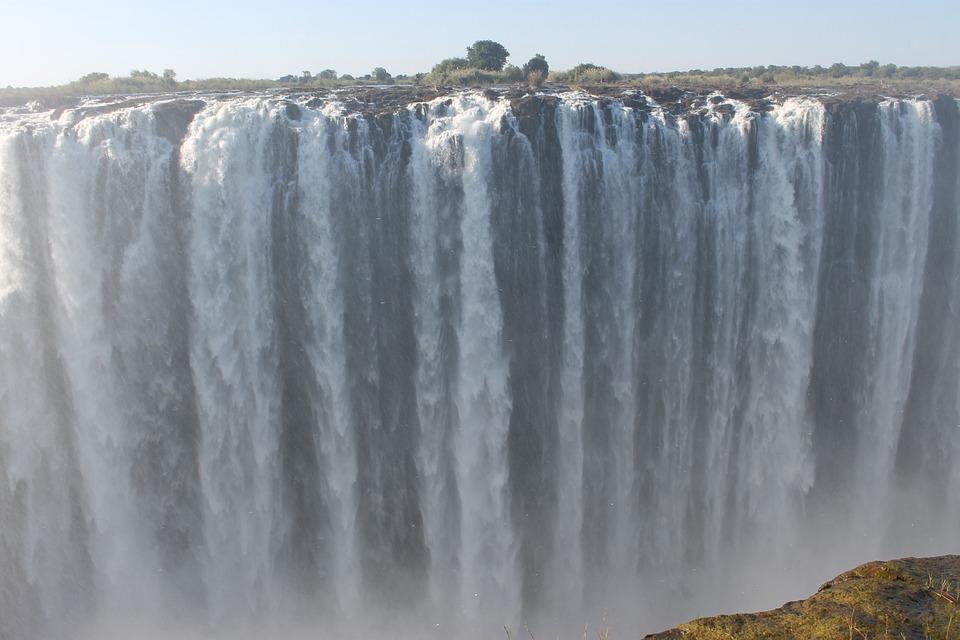 Waterfall, Victoria Falls, Africa, Zimbabwe