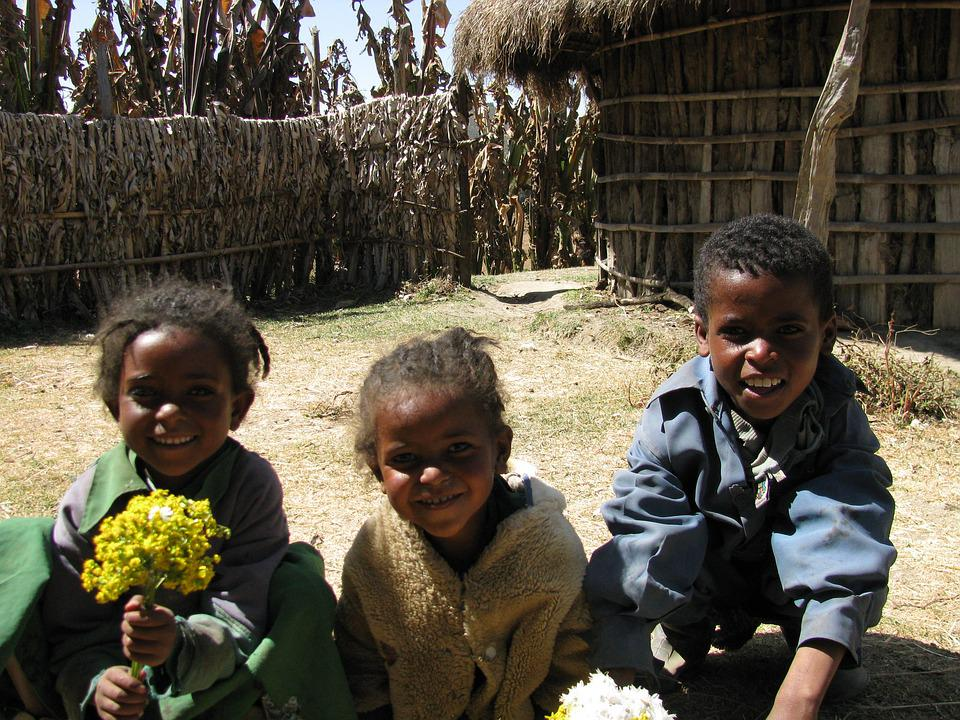 Children, Africa, Ethiopia Village, African Children