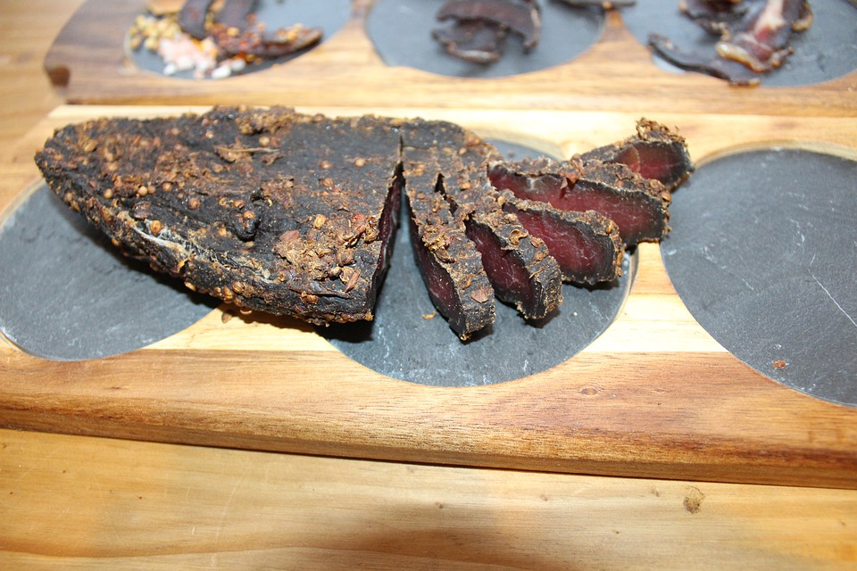 Biltong, Beef, Cured, African, Dehydrated, Dried